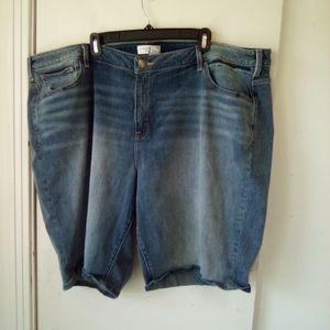 Lane Bryant plus size Jean shorts size 28